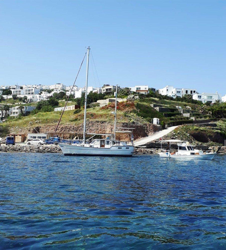 Çalınan Yunan Bayraklı Tekne Gündoğan Açıklarında Bulundu