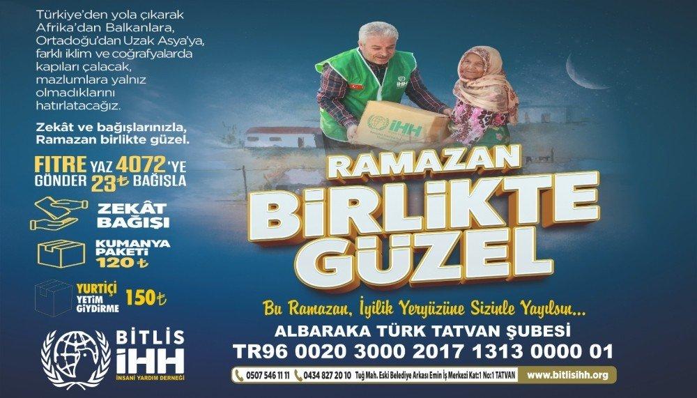 Bitlis İhh'dan Ramazan Çalışmaları