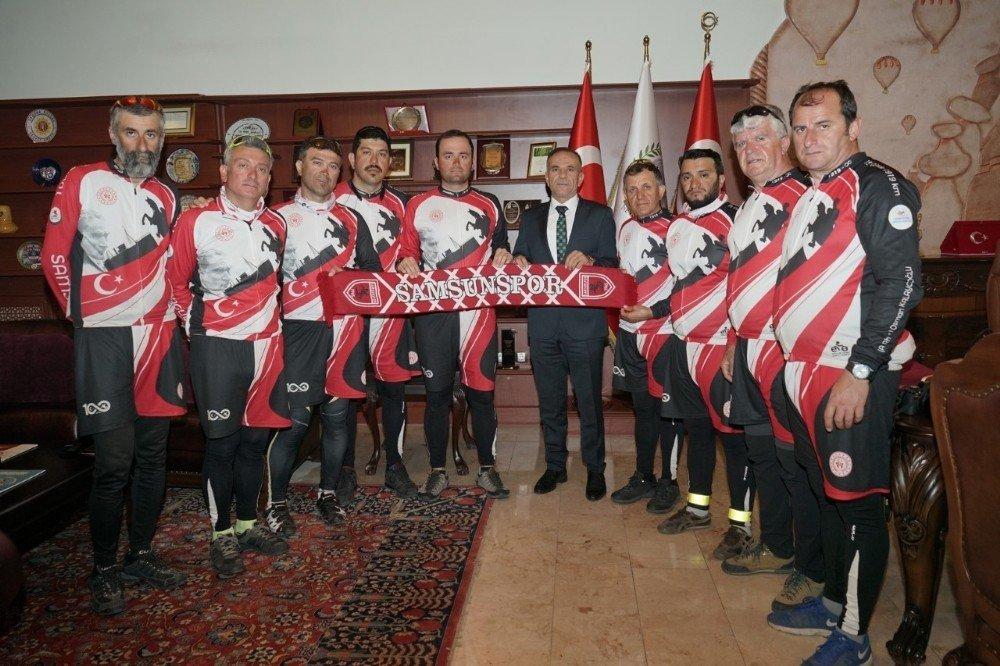19 Günde 1919 Kilometre Pedal Çevirecek Bisikletçiler Nevşehir'de