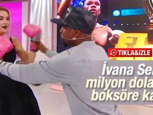 İvana Sert, Floyd Mayweather'le boks maçı yaptı