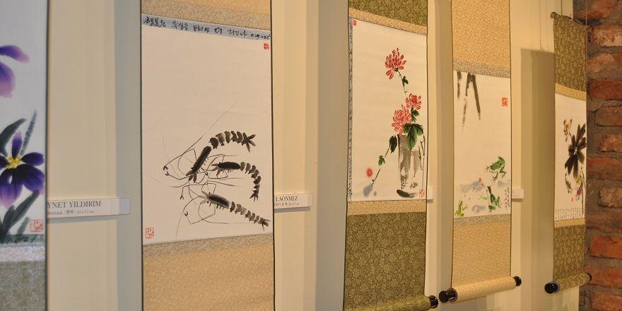 """Eskişehir'de """"Omuz Omuza Kore-Türk Dostluk Kaligrafi"""" sergisi açıldı"""