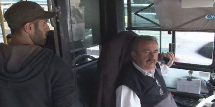 Halk otobüsünde '1 Mayıs' gerginliği